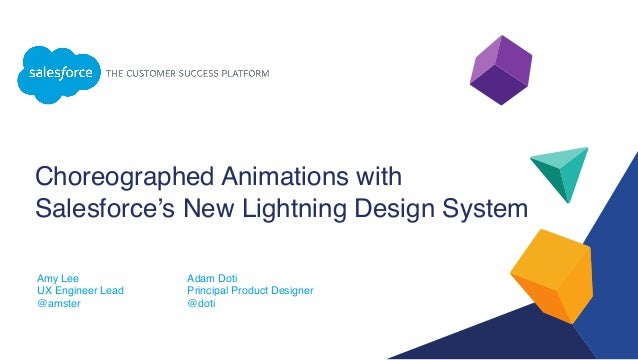 choreographed animations with salesforce s new lightning design system