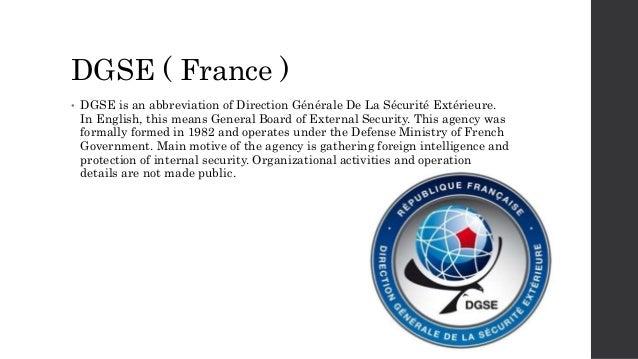 Top intelligence agencies of the world for Direction generale de la securite exterieur