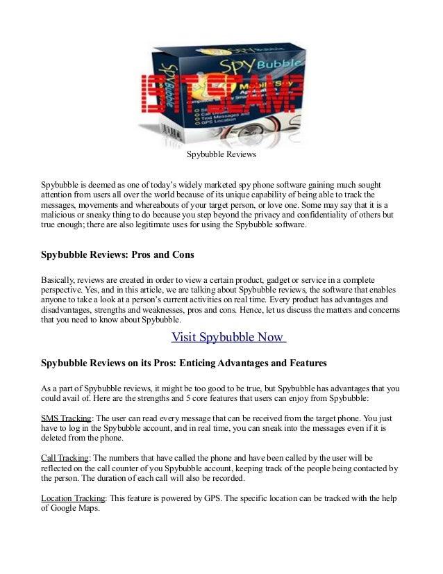 reviews on spybubble software
