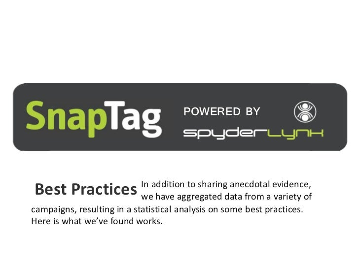 POWERED BYBest Practices In addition to sharingdata from a evidence,               we have aggregated                     ...