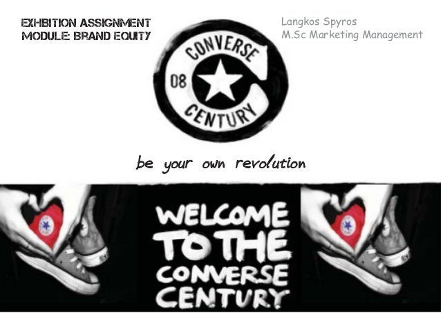 Exhibition Assignment Module: Brand Equity Langkos Spyros M.Sc Marketing Management be your own revolution