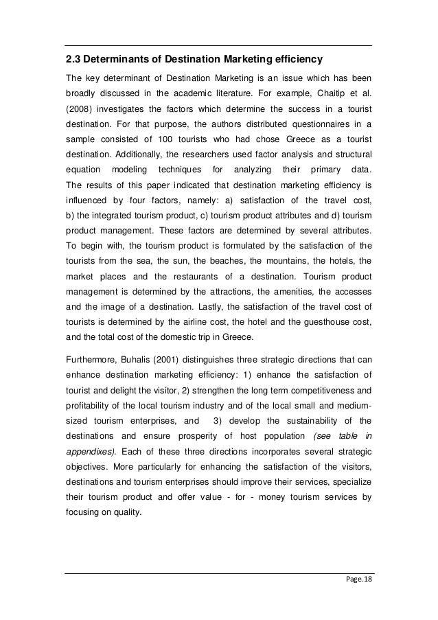 Hospitality and Tourism Dissertation Topics