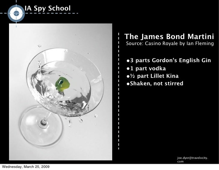 IA Spy School                                                      The James Bond Martini                                 ...