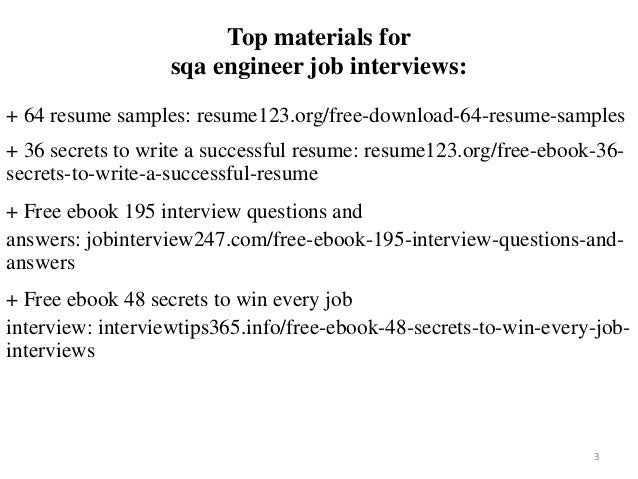 Sqa Engineer Resume Sample Pdf Ebook Free Download