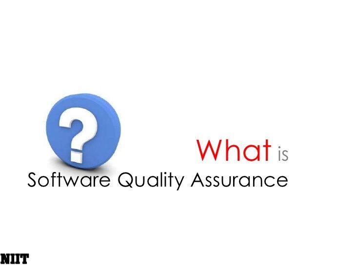 Software Testing - QA, QC & Testing