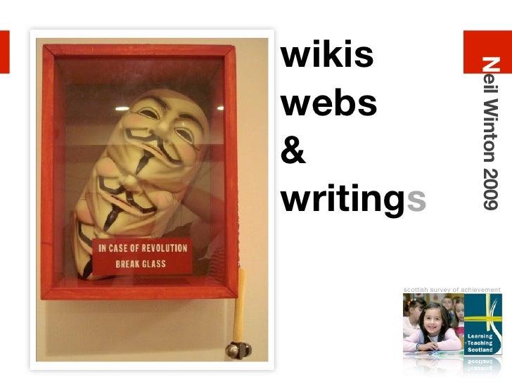 wikis                                 Neil Winton 2009 webs & writings        scottish survey of achievement