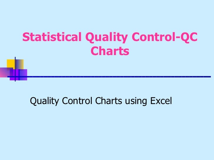quality control chart excel