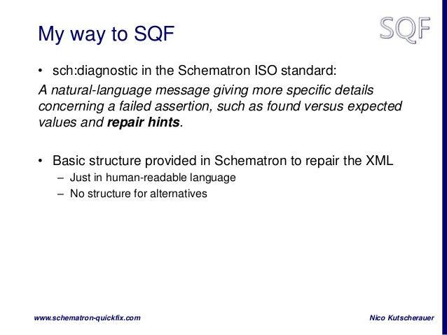 Schematron QuickFix on XMLPrague Slide 2