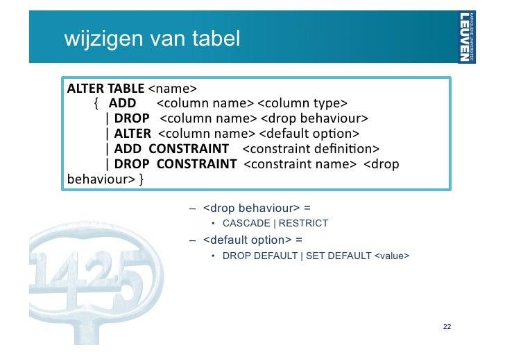 Sql - Alter table drop constraint ...