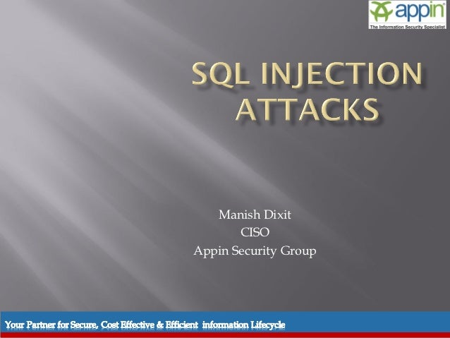 Manish Dixit                                                CISO                                         Appin Security Gr...