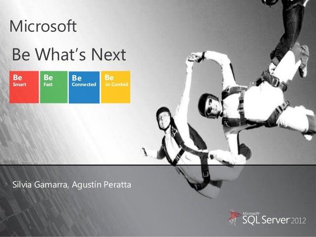 MicrosoftBe What's NextBe      Be     Be          BeSmart   Fast   Connected   in ControlSilvia Gamarra, Agustín Peratta
