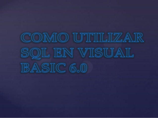 La sigla que se conoce como SQL corresponde a laexpresión inglesa Structured QueryLanguage (entendida en español como Leng...