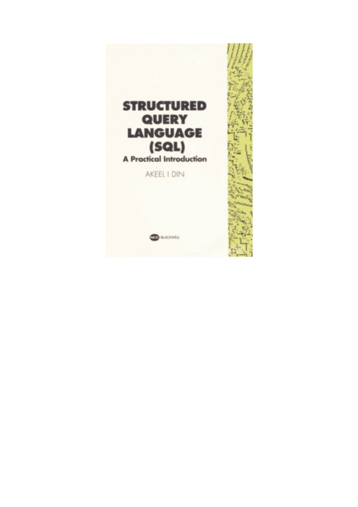 Sql a practical introduction