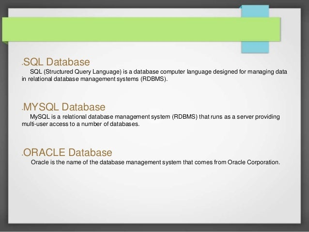 Oracle SQL Tutorial 1 - Intro to Oracle Database - YouTube