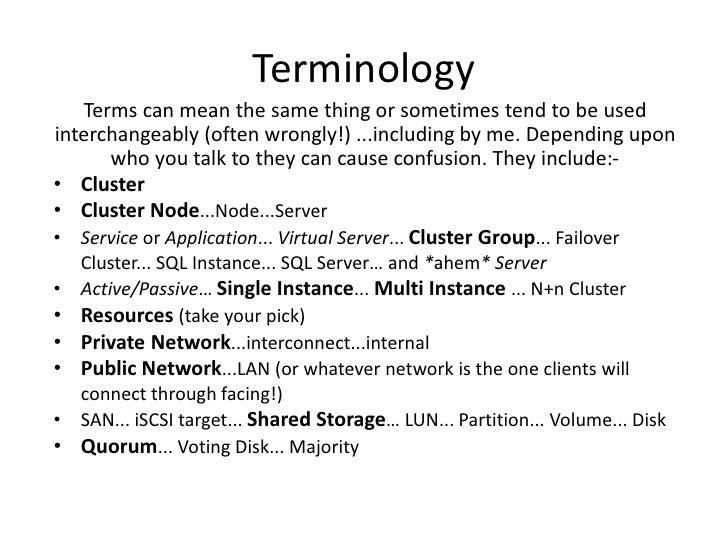 Sql Server Clustering For Dummies