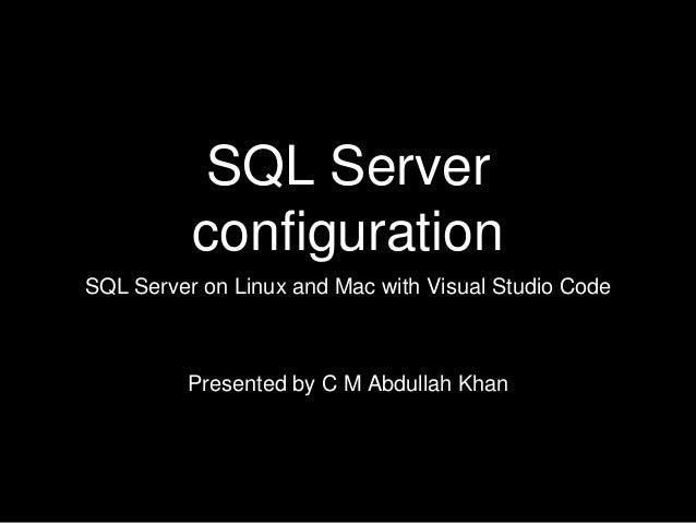 Configuration options for SQL Server 2017 on Docker