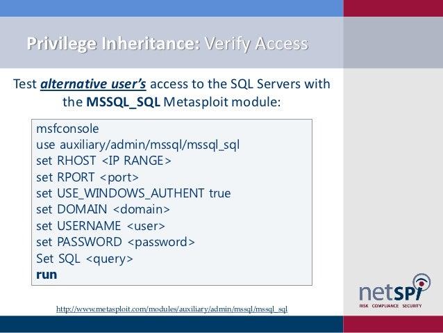 SQL Server Exploitation, Escalation, Pilfering - AppSec USA 2012