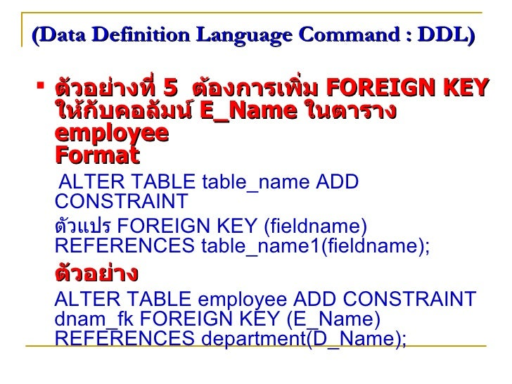 Sql ta2 - Alter table add foreign key ...