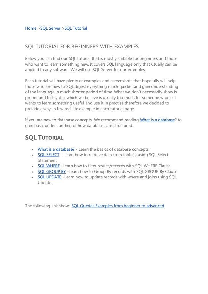 Cours et exercices Sql server - PDF
