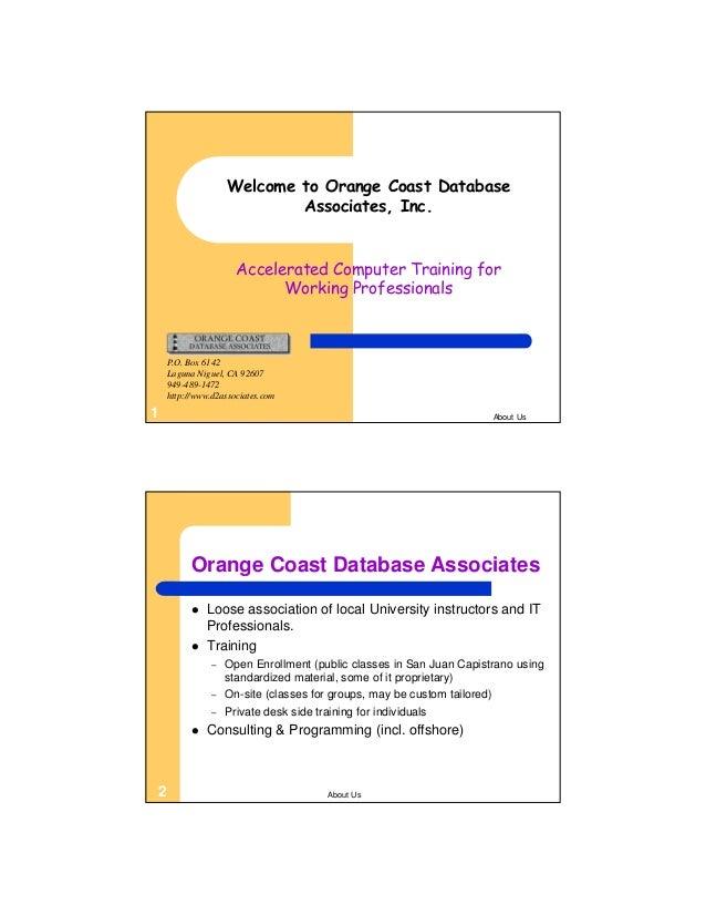 SQL200A Microsoft Access SQL Design Slide 2
