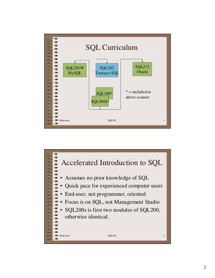 SQL202 SQL Server SQL Manual Slide 3
