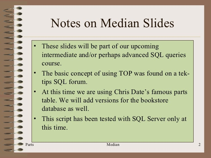 Sql206 sql median median sql programming median query how to calculate the median parts median 2 ccuart Gallery