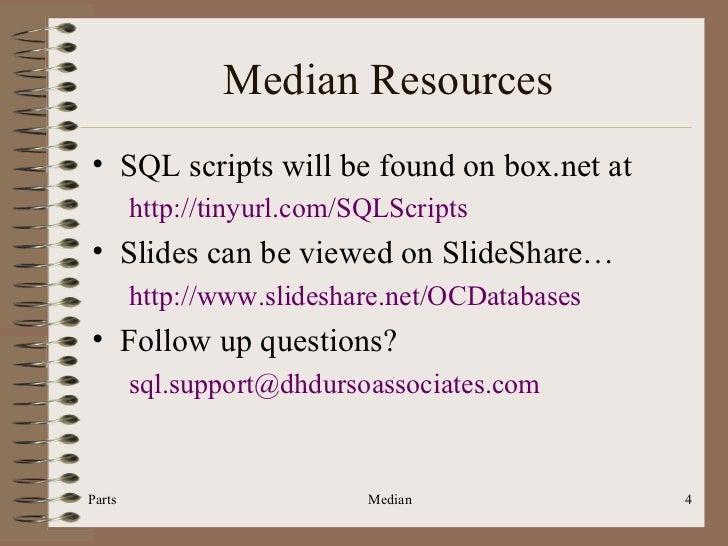 Sql206 sql median median resources ccuart Gallery
