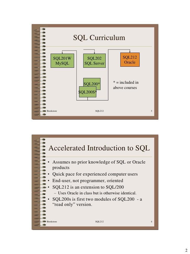 SQL212 Oracle SQL Manual Slide 3