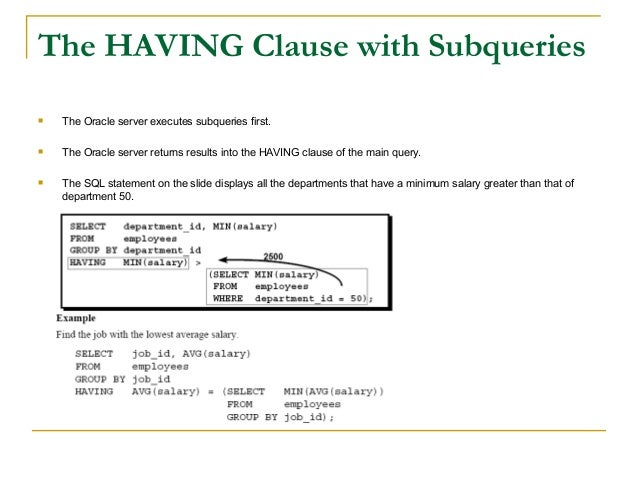 how to write a subquery in sql