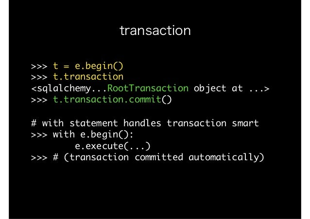 Sqlalchemy disable transactions
