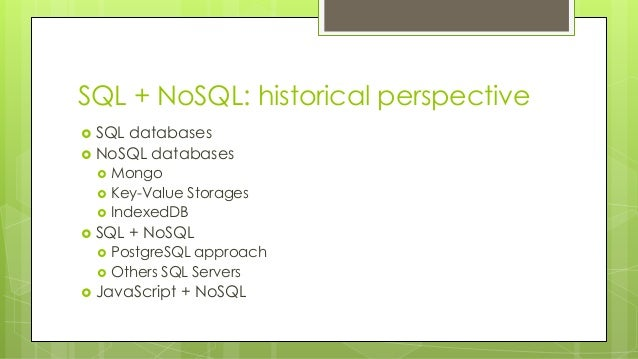 SQL and NoSQL Better Together in Alasql