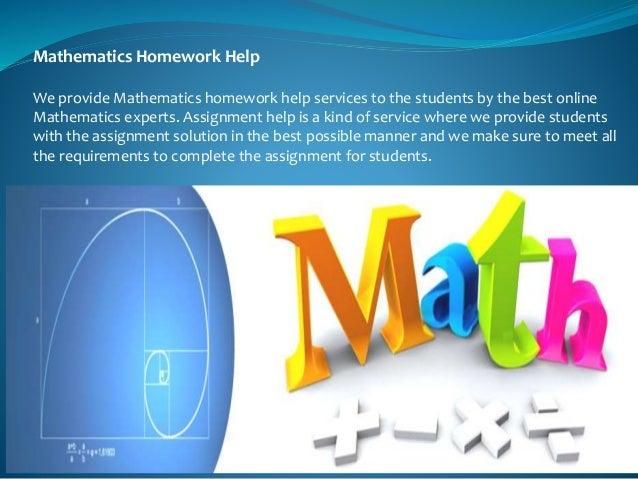 Homework help for math