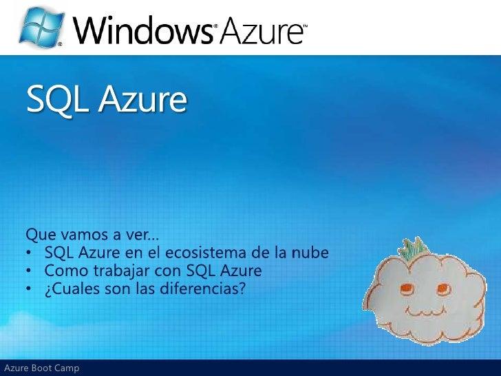 Quevamos a ver…<br /><ul><li>SQL Azure en el ecosistema de la nube