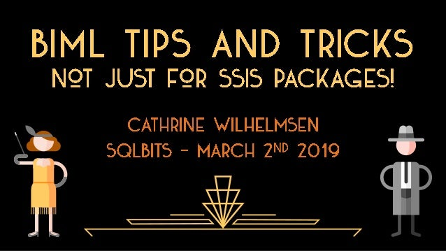 "© 2018 Cathrine Wilhelmsen (contact@cathrinewilhelmsen.net) Session Description ""Wait, what? Biml is not just for generati..."