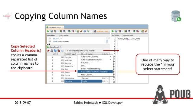 Oracle SQL Developer - POUG 2018