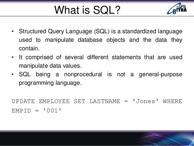 sql  embedded sql  dynamic sql and sqlj