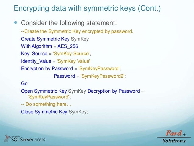 SQL Server Security And Encryption