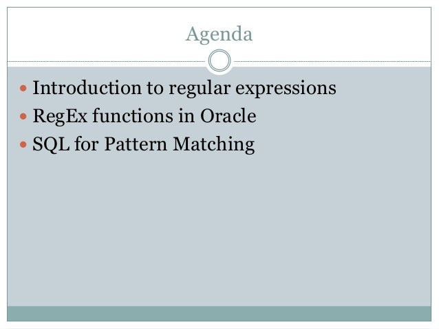 SQL for pattern matching (Oracle 12c)