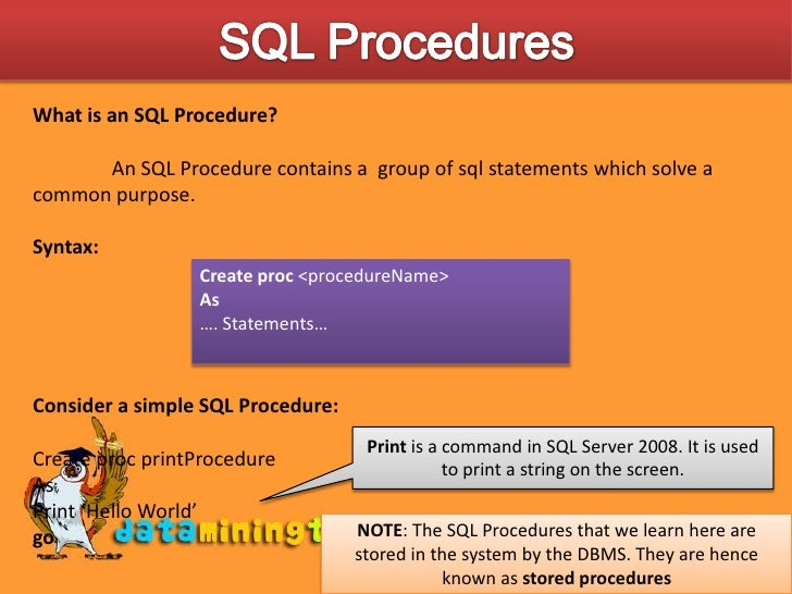 What are the SQL database functions?