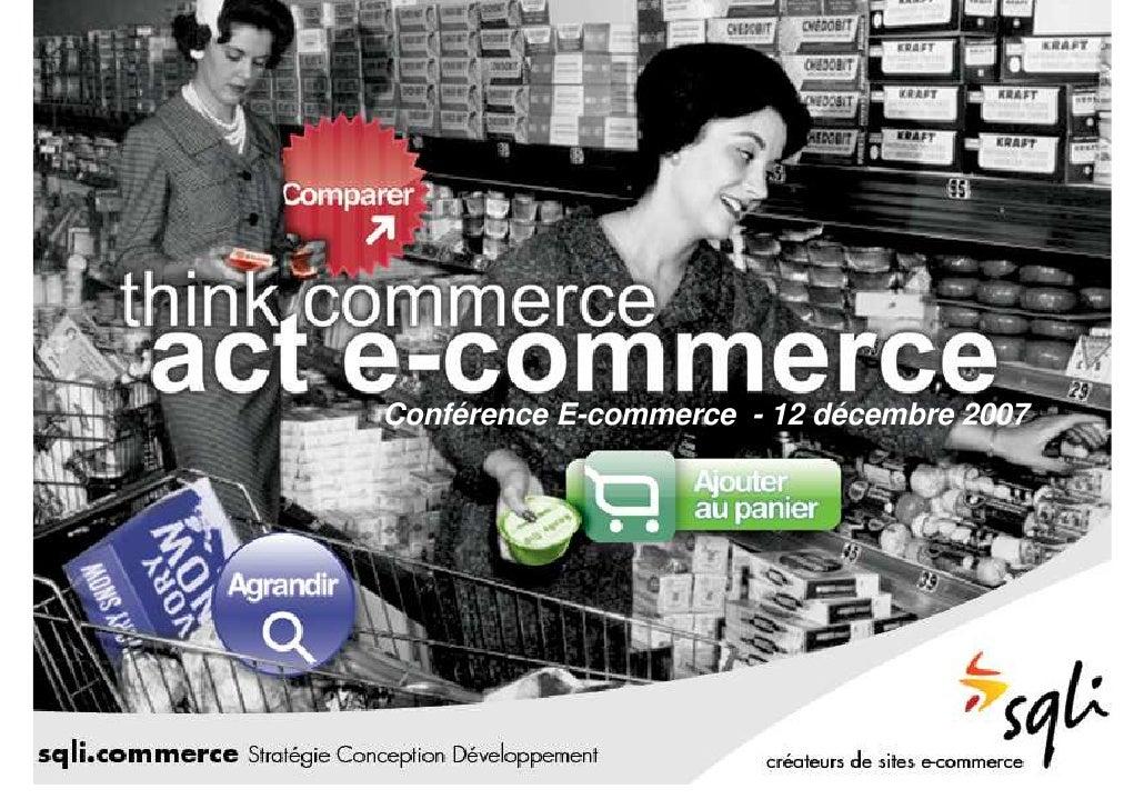 Conférence E-commerce - 12 décembre 2007