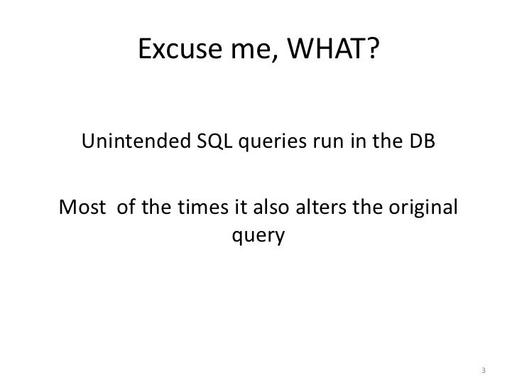 how to avoid sql injection attacks