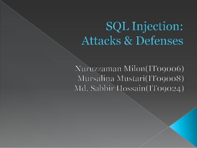  SQL Injection› Blind SQL Injection Vulnerable Code Exploit› Classic Login Page Vulnerability› Error Based Injection(SQ...