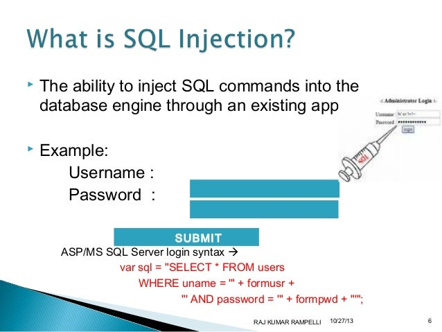 Sql injection tutorial: learn with example.