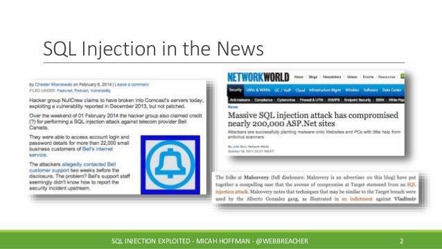 SANS @Night Talk: SQL Injection Exploited Slide 2