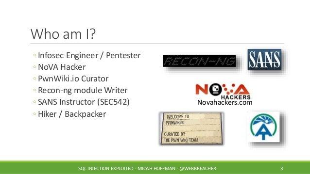 SANS @Night Talk: SQL Injection Exploited Slide 3