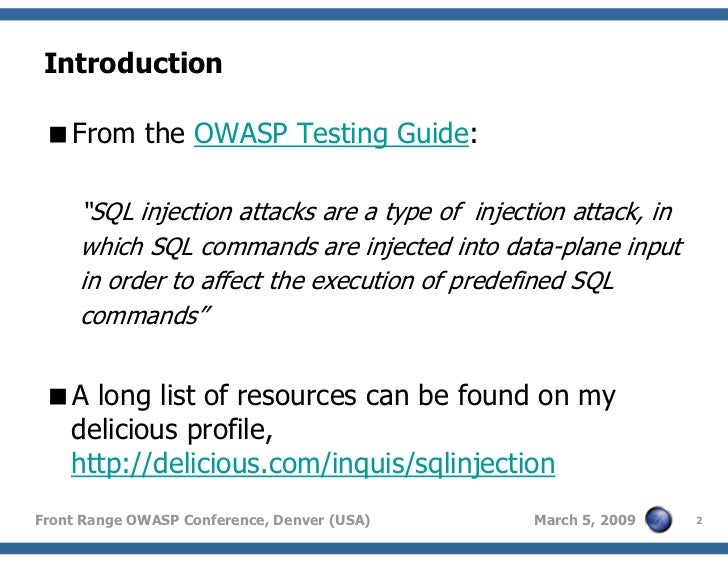 guide to sql injection I have already posted a beginning guide to the sql injection here at hackersthirst already, if you haven't read that post then kindly do read this below, also.