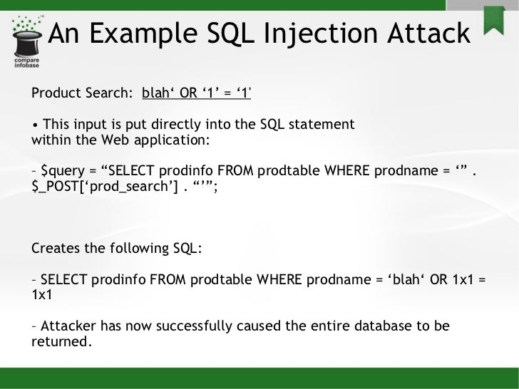 Sql injection attacks - Sql injection drop table example ...