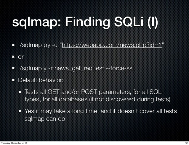 Sql injection with sqlmap