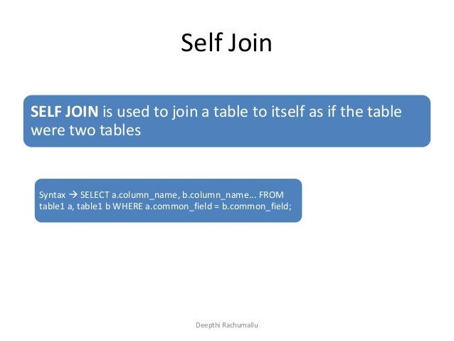 Sql joins inner join self join outer joins - Multiple table join in sql ...