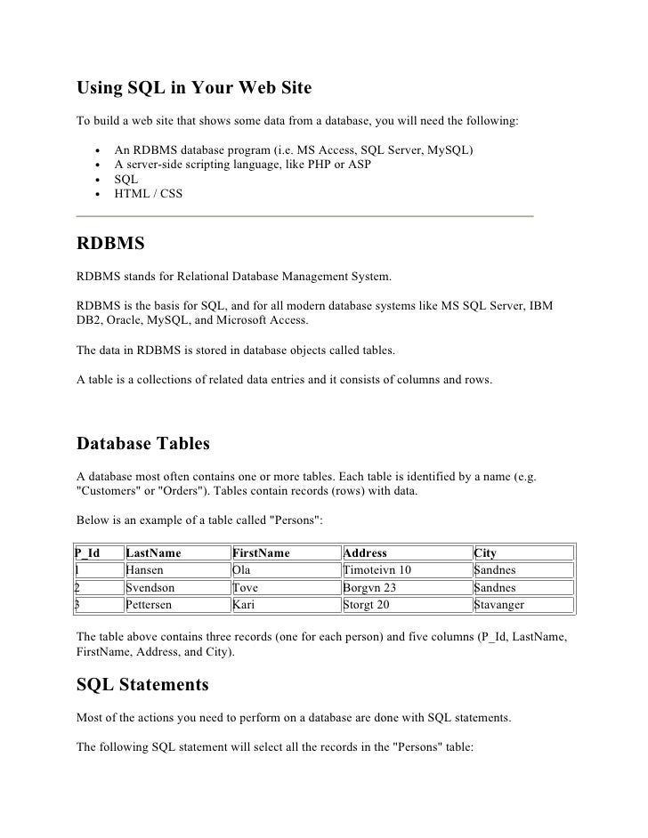 A must Sql notes for beginners Slide 2